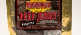 3oz hangtown beef jerky peppered